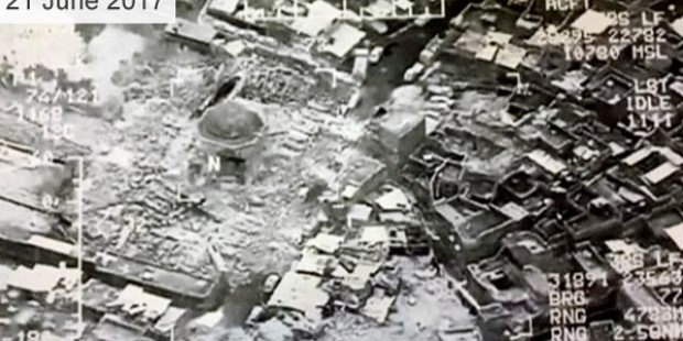 ISIS blows up al-Nuri mosque and its iconic minaret in Mosul